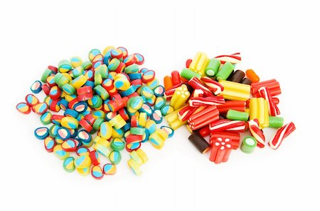 simsearch:400-04344039,k - Colourful sweets isolated on the white background Stock Photo - Budget Royalty-Free & Subscription, Code: 400-04234649