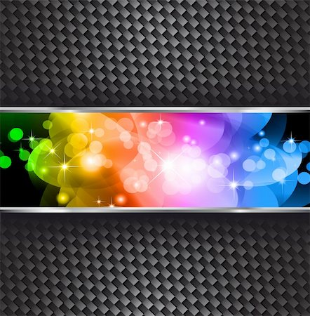 Stars and Light Sparkle Background with Rainbow Gradient Stock Photo - Budget Royalty-Free & Subscription, Code: 400-04235497