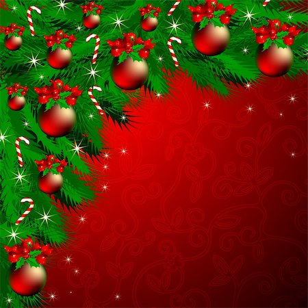 christmas background, this illustration may be useful as designer work Stock Photo - Budget Royalty-Free & Subscription, Code: 400-04235632