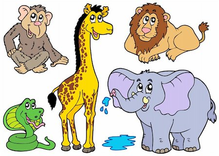 Various African animals - vector illustration. Stock Photo - Budget Royalty-Free & Subscription, Code: 400-04236090