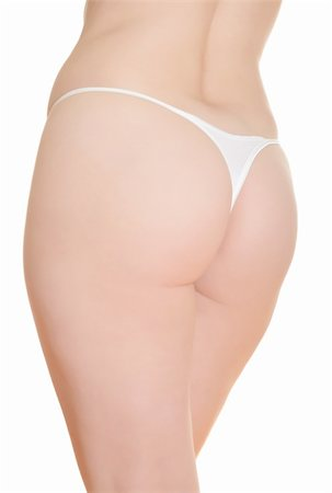 Womans' buttocks isolated over a white background. Stock Photo - Budget Royalty-Free & Subscription, Code: 400-04236512