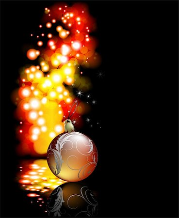 christmas background, this illustration may be useful as designer work Stock Photo - Budget Royalty-Free & Subscription, Code: 400-04236928