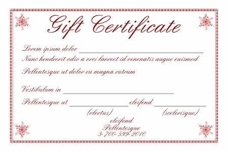 illustration of gift certificate on white background Stock Photo - Budget Royalty-Free & Subscription, Code: 400-04237269