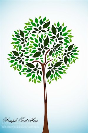 illustration of natural tree on white background Stock Photo - Budget Royalty-Free & Subscription, Code: 400-04237398