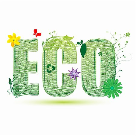 illustration of eco recycle on white background Stock Photo - Budget Royalty-Free & Subscription, Code: 400-04237445