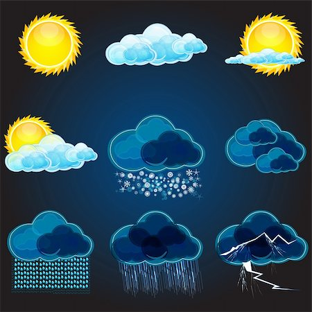 illustration of types of weathers Stock Photo - Budget Royalty-Free & Subscription, Code: 400-04238001