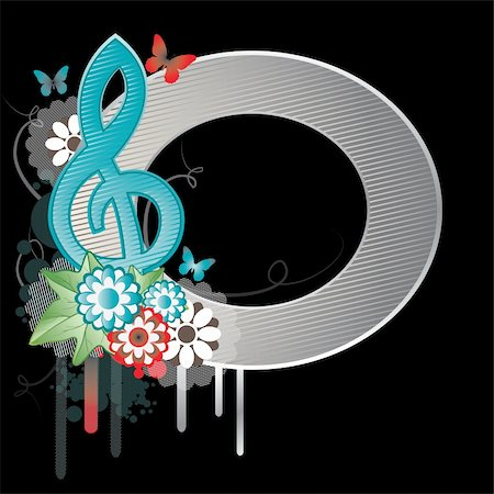 Background with Treble clef.Vector Illustration Stock Photo - Budget Royalty-Free & Subscription, Code: 400-04238330