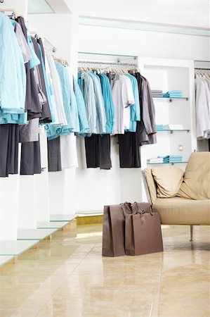 In shop of clothes of a bag with purchases Stock Photo - Budget Royalty-Free & Subscription, Code: 400-04239280