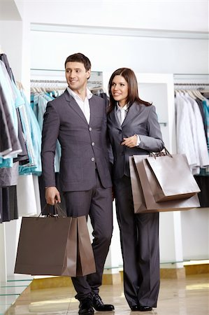 The man and the woman in suits in shop Stock Photo - Budget Royalty-Free & Subscription, Code: 400-04239281
