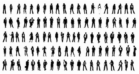 hundred different silhouette  people EPS 10 vector file included Stock Photo - Budget Royalty-Free & Subscription, Code: 400-04231042