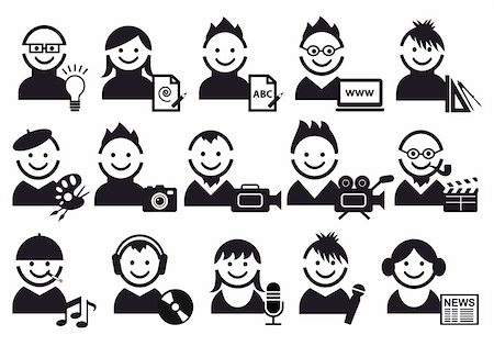 creative people and artist icons, vector set Stock Photo - Budget Royalty-Free & Subscription, Code: 400-04231695