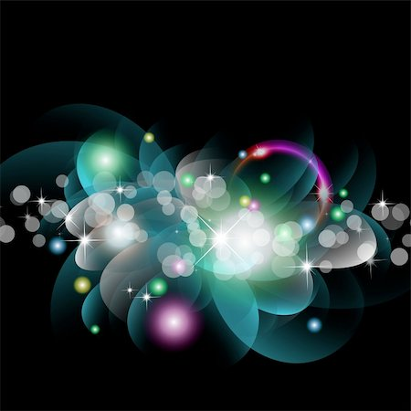 Abstract Glowing Circles of llight with Rainbow Colours Background Stock Photo - Budget Royalty-Free & Subscription, Code: 400-04232603