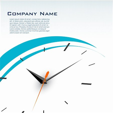 illustration of business card with watch Stock Photo - Budget Royalty-Free & Subscription, Code: 400-04233882