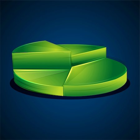 illustration of pie chart Stock Photo - Budget Royalty-Free & Subscription, Code: 400-04240285