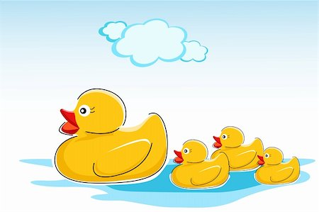 illustration of ducks in water Stock Photo - Budget Royalty-Free & Subscription, Code: 400-04240306