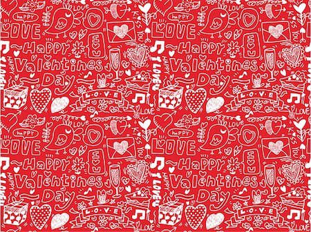 seamless Valentine's Day pattern Stock Photo - Budget Royalty-Free & Subscription, Code: 400-04242180