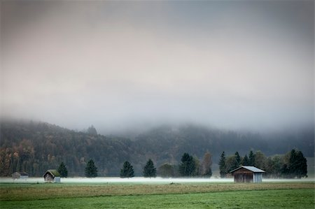 An image of a beautiful landscape with fog in bavaria germany Stock Photo - Budget Royalty-Free & Subscription, Code: 400-04255158