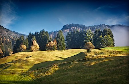 An image of a beautiful landscape with fog in bavaria germany Stock Photo - Budget Royalty-Free & Subscription, Code: 400-04255164