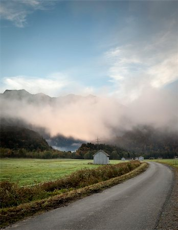 An image of a beautiful landscape with fog in bavaria germany Stock Photo - Budget Royalty-Free & Subscription, Code: 400-04255160
