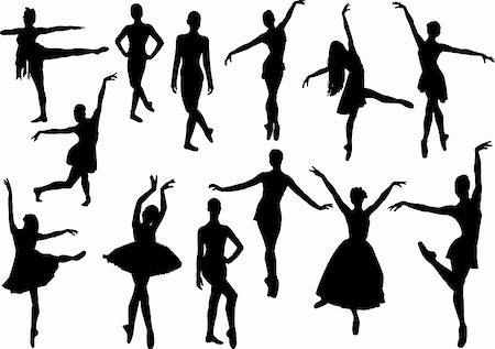 pretty in black clipart - Ballet silhouette Stock Photo - Budget Royalty-Free & Subscription, Code: 400-04255721