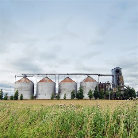 rural gas station - Ethanol fuel plant at the countryside Stock Photo - Budget Royalty-Free & Subscription, Code: 400-04258054