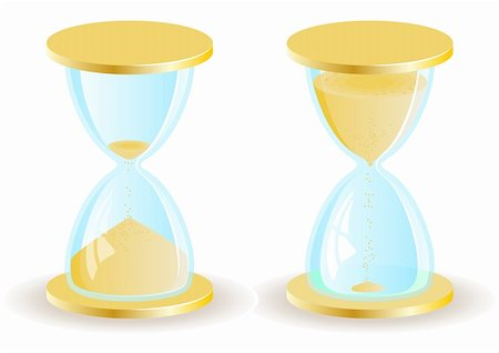 sand clock - Two vector hourglass or sand clock icons. EPS8 Stock Photo - Budget Royalty-Free & Subscription, Code: 400-04258106
