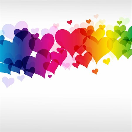 eps colorful heart background Illustration for your design. Stock Photo - Budget Royalty-Free & Subscription, Code: 400-04258705