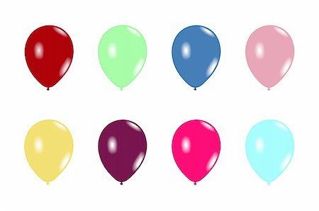 Set balloons are isolated on white background. Vector Stock Photo - Budget Royalty-Free & Subscription, Code: 400-04258780