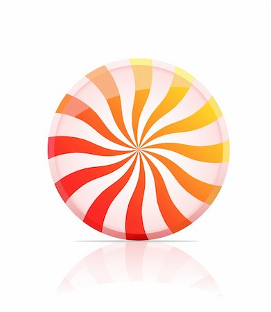 red circle lollipop - striped candy icon.  illustratio of lollipop isolated on white background Stock Photo - Budget Royalty-Free & Subscription, Code: 400-04259407