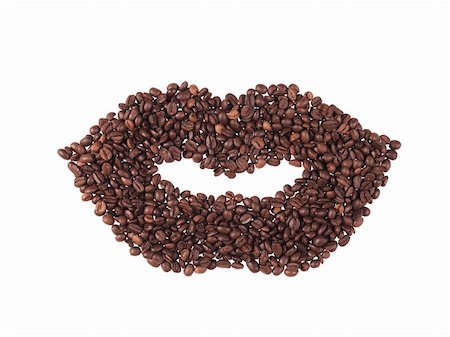 form of mouth of coffee beans Stock Photo - Budget Royalty-Free & Subscription, Code: 400-04265423