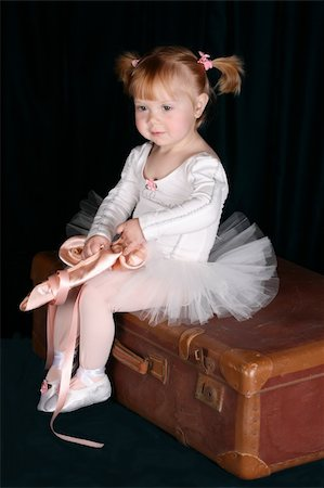 Little ballet toddler wearing a white tutu Stock Photo - Budget Royalty-Free & Subscription, Code: 400-04265483