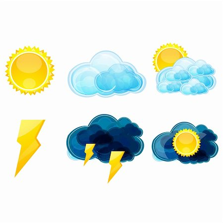 illustration of various types of weather Stock Photo - Budget Royalty-Free & Subscription, Code: 400-04265634