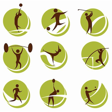 fat man exercising - illustration of sports on white background Stock Photo - Budget Royalty-Free & Subscription, Code: 400-04265647