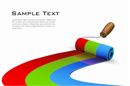 illustration of paint roller on white background Stock Photo - Budget Royalty-Free & Subscription, Code: 400-04268955