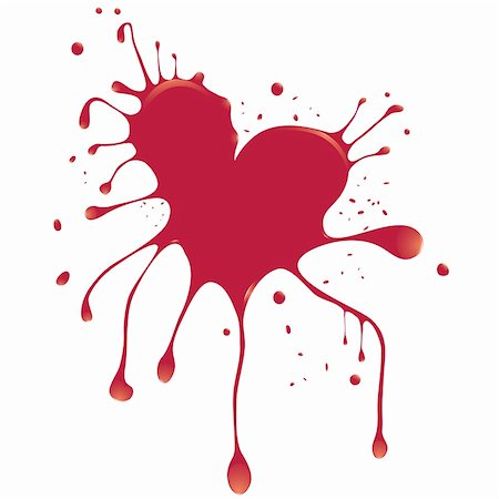 Grunge abstract heart with blood. Element for design. Vector illustration. Stock Photo - Budget Royalty-Free & Subscription, Code: 400-04269607