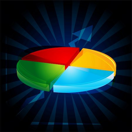 illustration of abstract pie chart Stock Photo - Budget Royalty-Free & Subscription, Code: 400-04269707