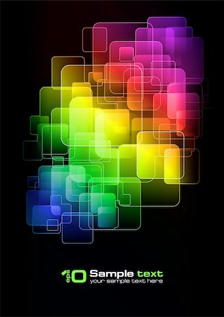 Abstract vector eps10 glowing background. For your design. Stock Photo - Budget Royalty-Free & Subscription, Code: 400-04261292