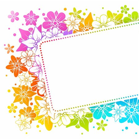 Floral colorful frame  15 Stock Photo - Budget Royalty-Free & Subscription, Code: 400-04263248
