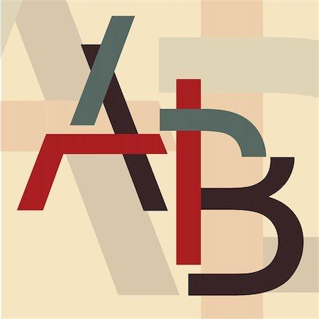 "Alphabet ""A, B"" Stock Photo - Budget Royalty-Free & Subscription, Code: 400-04263839"