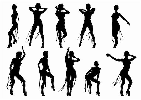 Vector drawing dancing girl on a white background Stock Photo - Budget Royalty-Free & Subscription, Code: 400-04274376