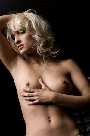 attractive nude breasts blond woman Stock Photo - Budget Royalty-Free & Subscription, Code: 400-04274677