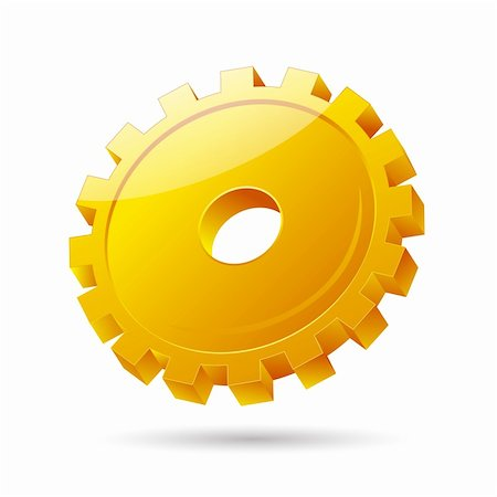 illustration of gear icon on white background Stock Photo - Budget Royalty-Free & Subscription, Code: 400-04279983