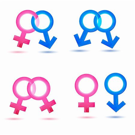 illustration of sex icons on white background Stock Photo - Budget Royalty-Free & Subscription, Code: 400-04271828