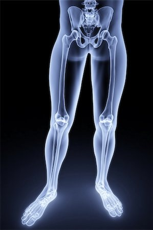 male feet under the X-rays. 3d image. Stock Photo - Budget Royalty-Free & Subscription, Code: 400-04272951