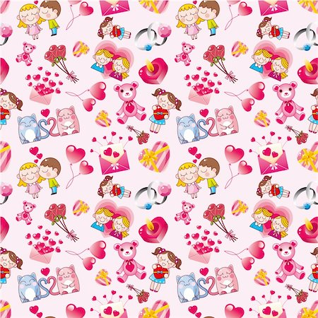 seamless Valentine's Day pattern Stock Photo - Budget Royalty-Free & Subscription, Code: 400-04273605