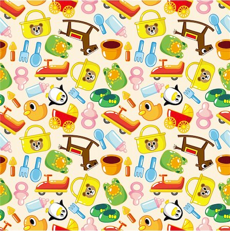 seamless baby pattern Stock Photo - Budget Royalty-Free & Subscription, Code: 400-04273628