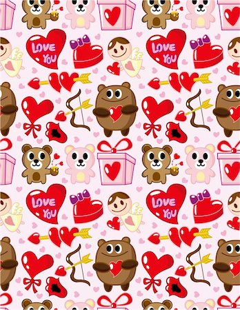 seamless Valentine's Day pattern Stock Photo - Budget Royalty-Free & Subscription, Code: 400-04273647