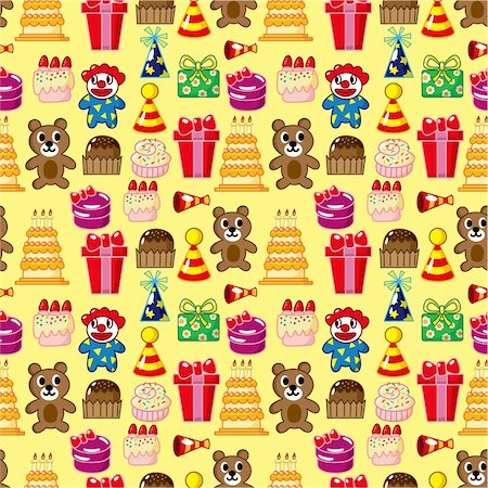 seamless birthday pattern Stock Photo - Budget Royalty-Free & Subscription, Code: 400-04273679