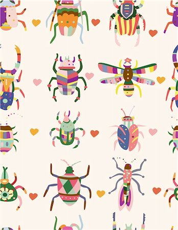 seamless bug pattern Stock Photo - Budget Royalty-Free & Subscription, Code: 400-04273683