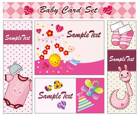 baby card Stock Photo - Budget Royalty-Free & Subscription, Code: 400-04273701